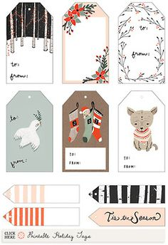 Make your own custom gift tags with these free printable tag free gift tag printable printable christmas negle Image collections