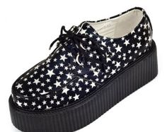 Ultra-high-quality Women's Advanced Suede Inside Lace Up Flat Platform Goth Creepers Punk Shoes