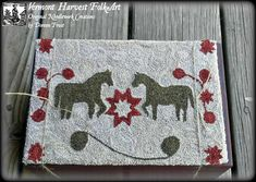 Maggie's Mares Punch Needle Embroidery Pattern PDF