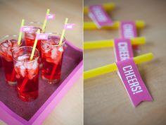 Free printable drink flags! So cute!