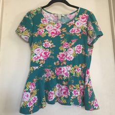 Peplum shirt Flowered peplum shirt. Good condition Forever 21 Tops Blouses