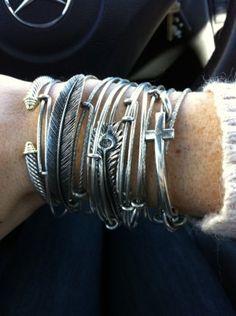 mismatched bracelets