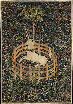 La Licorne captive, tapisserie la chasse à la licorne, 1500 MET