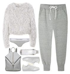 """""""Untitled #1363"""" by timeak ❤ liked on Polyvore featuring Sacai Luck, Kawasaki, adidas and Calvin Klein"""