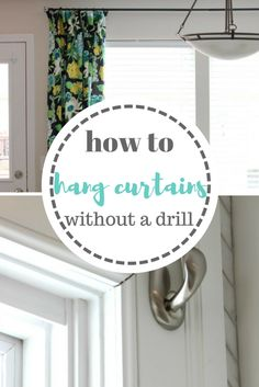 Curtains, How to Hang Curtains, Renter Friendly Curtains, How to Hang Curtains Without A Drill, DIY Home, Easy DIY, Easy Home Ideas, Home Hacks, Apartment Decor, Decorating a Rental, how to Decorate A Rental