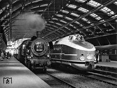 1965 Alt und neu in berlin Ostbahnhof