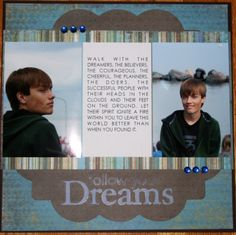 high school scrapbook layouts | ... find some paper and used sports themed stickers for some of the pages