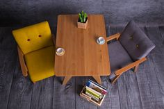 Wooden table for children, comfortable, incredibly stable, made of beech wood. You can combine it with modelina's armchair for a Child.