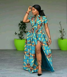we have found the best 34 traditional African fashion for Ankara styles that attract a beauty. African fashion is one of the foremost bewildering sights to grace the corners of our planet. African Maxi Dresses, African Fashion Ankara, Latest African Fashion Dresses, African Dresses For Women, African Print Fashion, Ankara Dress, Africa Fashion, African Attire, African Wear