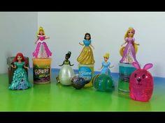 Glitter Putty Magiclip Princesses Dresses Frozen Elsa Anna Belle Tiana Merida Rapunzel - YouTube