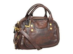 Frye Elaine Vintage Satchel Dark Brown Antique Pull Up - Zappos.com Free Shipping BOTH Ways