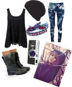 """Random ~.~"" by stringzlife ❤ liked on Polyvore"