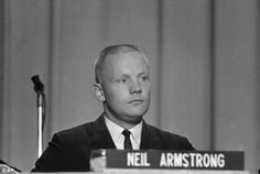 Meet the press: Armstrong was introduced to the press on September 17, 1962, along with the other astronauts in Houston