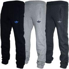 d7ecd8c9fc090b Mens Adidas Originals SPO Fleece Trefoil Tracksuit Pants Bottoms Grey Black  S-XL in Clothes