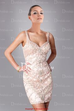 Luxurious Pink Satin Cocktail Dress with Ample Beadings