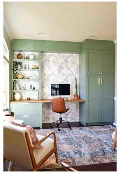 Ikea Built In, Built In Desk, Built In Cabinets, Ikea Cabinets, Kitchen Cabinets, Built In Shelves, Ikea Countertop Desk, Large Cabinets, Kitchen Desks