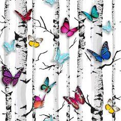 Muriva Emperors Garden Wallpaper White / Multi Coloured (102529) - Muriva from I love wallpaper UK