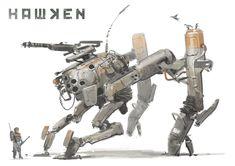 """Concept Design Academy: """"Art of Hawken: Mech Design"""" this Saturday~! Character Concept, Character Design, Rpg Cyberpunk, Mekka, Robot Concept Art, Robot Design, Mechanical Design, Sci Fi Fantasy, War Machine"""