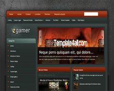 Free Blogger Templates - Gaming Blogger Theme Free #blogger #gaming #bloggertemplates