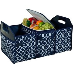 2-Piece Trellis Trunk Organizer & Cooler Set in Blue