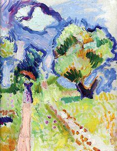 Henri Matisse / Promenade des oliviers (Detail)