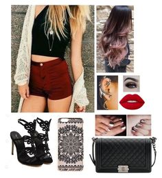"""Gig outfit book"" by lol22-2000 ❤ liked on Polyvore featuring Chanel, New Look, Lime Crime and BHCosmetics"