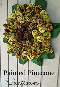 People are going to be pinning this pine cone wreath idea like crazy!