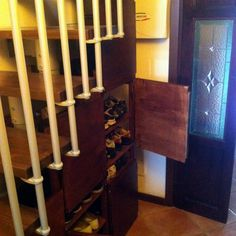 ivar under-stairs shoe storage cupboards doors from shelves also