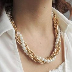 Double-Chain Beaded Necklace from #YesStyle <3 CYNTHIA YesStyle.co.uk