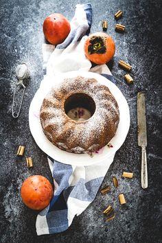 Persimmon spice cake - Torta ai cachi speziata