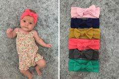 You did it! You wrestled your little girl in to the cutest outfit but now you're searching for the perfect bow. These knotted baby headbands are the perfect go to bow and they are so cheap!