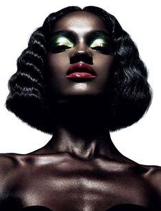 Beautiful photo by YSL Beauty  Herieth Paul by Daniel Sannwald  for Pop Magazine, f/w 2012