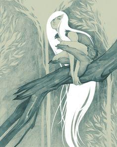 Light Grey Art Lab's GIRLS: Fact + Fiction show. Aisling from the Secret of Kells.  $100