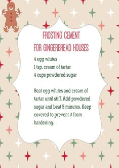 Best Frosting for Homemade Gingerbread Houses The BEST frosting to keep your gingerbread house from falling apart.The BEST frosting to keep your gingerbread house from falling apart. Homemade Gingerbread House, Gingerbread House Parties, Christmas Gingerbread House, Royal Icing Recipe For Gingerbread House, Gingerbread Cookies, Gingerbread House Icing Glue Recipe, Diy Gingerbread Houses, Graham Cracker Gingerbread House, Gingerbread House Decorating Ideas