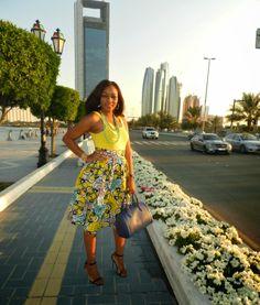 Kiki's Fashion: Midi Flared Skirt designed by Kiki Zimba