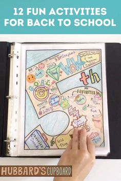 12 Activities for First Days of School - 5th Grade Back to School - All About Me Projects