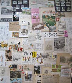 Large group of antique ephemera - Photos,letters,illustrations and more