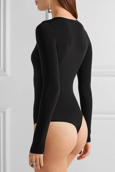 Wolford - Buenos Aires Stretch-jersey Bodysuit - Black - large