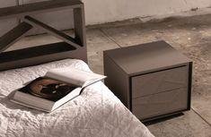 Comodino moderno design noce comodino eikon con struttura e