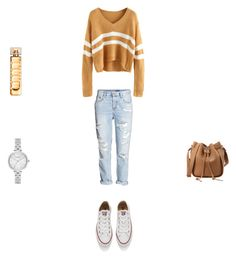 O 6 by eftimie-gabriela on Polyvore featuring Converse, Kate Spade and HUGO