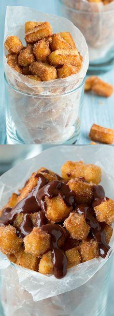 Cool Dessert Ideas Churro Bites - dessert, food, recipes