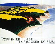 Yorkshire - L.N.E.R. Poster, Tom Purvis