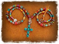 For JESS only.Turquoise Boho CROSS Necklace BUDDHA Cross by GPyoga, $145.00