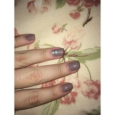 Nails autumn simple natural fall flowers color
