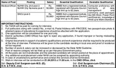 DHFW Jind Haryana Vacancy April 2015 For 07 Medical Officer Post Apply For Interview - Karani Naukri