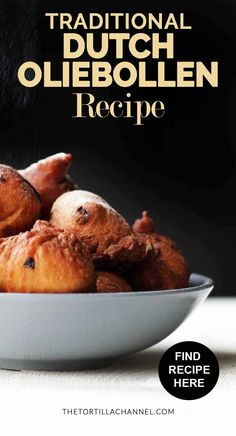 How to make these traditional oliebollen. They are chewy, sweet and fried. Decorated with icing sugar. A Dutch treat that is eaten around New Years eve Cuban Recipes, New Recipes, Baking Recipes, Sweet Recipes, Holiday Recipes, Favorite Recipes, Amish Recipes, Traditional Dutch Recipes, Dutch Desserts