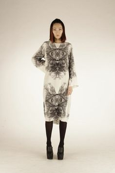 Beautiful silk crepe digital print tunic/dress with long sleeves