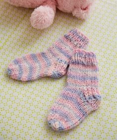 Knit Baby Socks | Free Pattern Red Heart