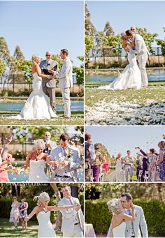 I like the idea of throwing whatever and getting this shot at the end of the ceremony not reception....