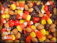 I make this snack mix for my family each fall. We all love it. The sweet and salty flavors of these ingredientsreallytaste great together. It's fun to make- the kids could help- and looks like fa...